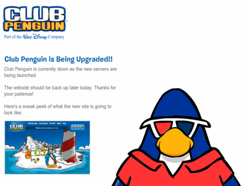 Club Penguin Down Time