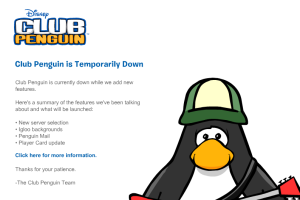 Club Penguin Down