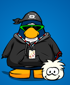 LimeBoy With His Puffle